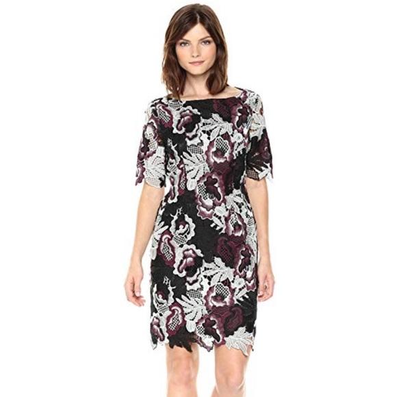 58df49a1 Tahari Dresses | Short Sleeve Full Lace Sheath Dress | Poshmark